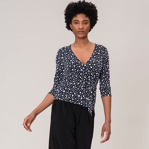 Stitch Fix Leota Faux Wrap Top Blouse Jersey S